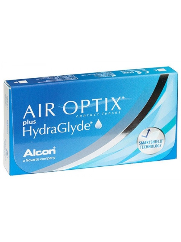 Air Optix plus HydraGlyde 3 шт 630грн