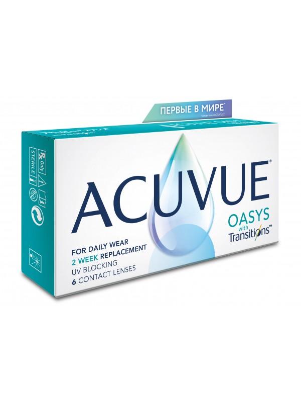 Acuvue Oasys with Transitions контактные линзы с технологией адаптации к свету